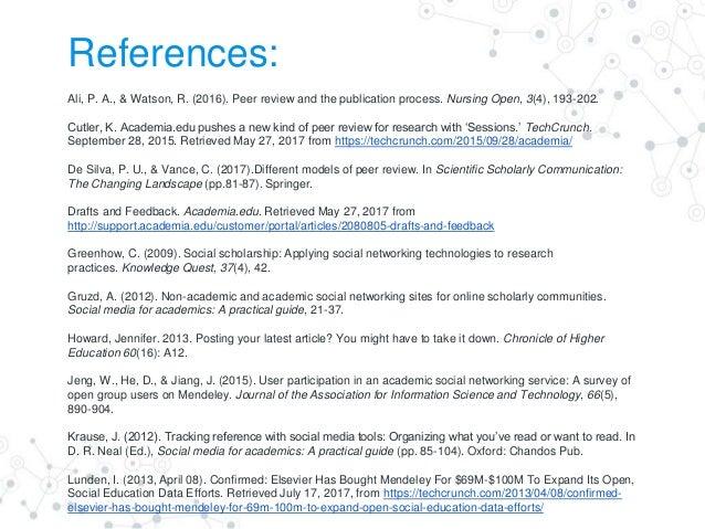 Social Media for Academics. A Practical Guide