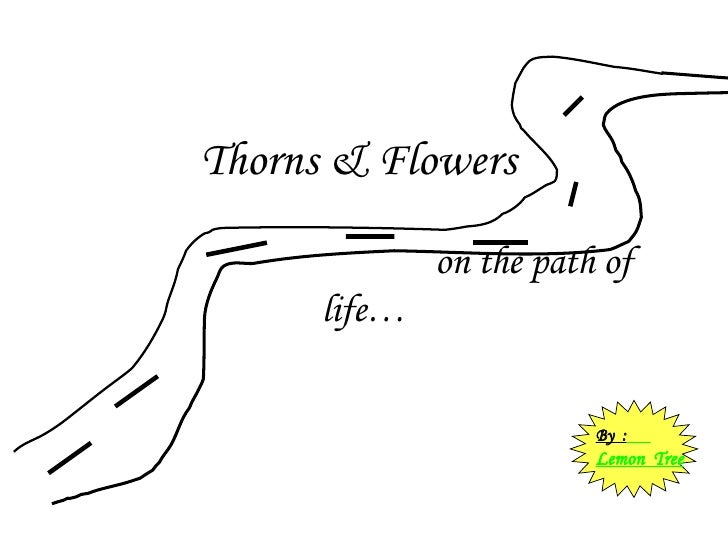 Thorns & Flowers     on the path of life… By  :   Lemon  Tree