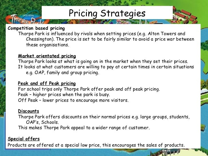 theme parks pricing strategy More guests are visiting the disney world theme parks despite recent price hikes, and those visitors are spending more money as a result while it's still early in the year and thus.