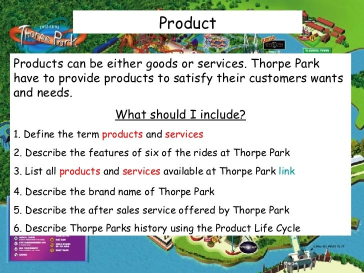 Thorpe park products