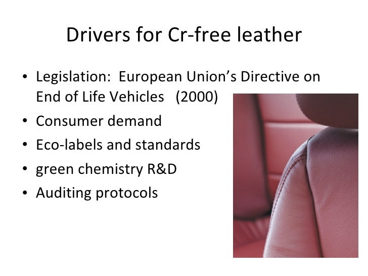Market Trends for Chrome-free and eco- leather Slide 2