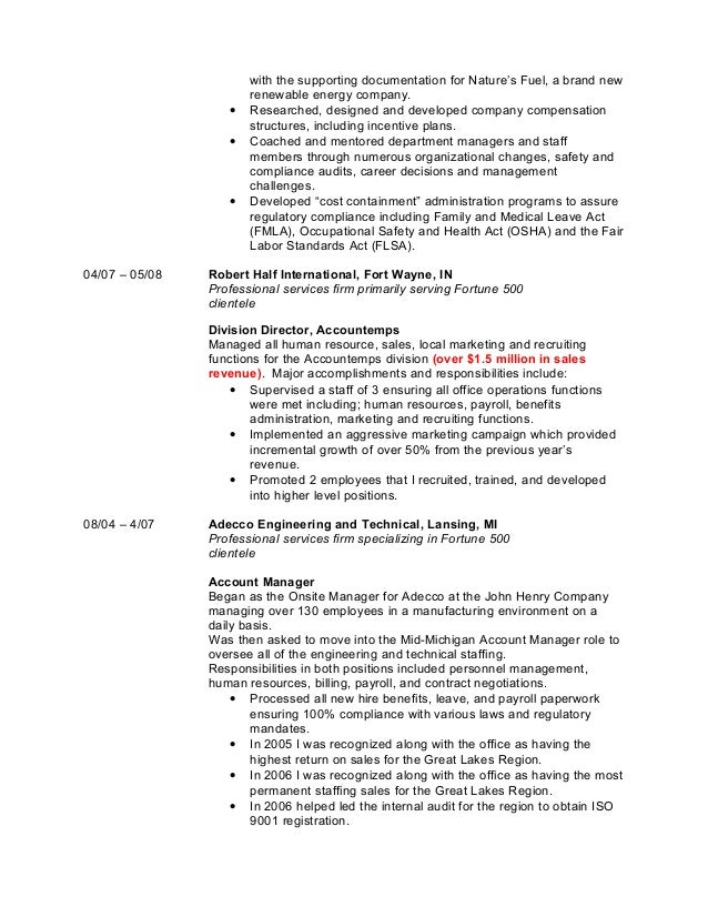 Thorson, Brent Professional Resume