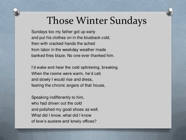 those winter sundays essay