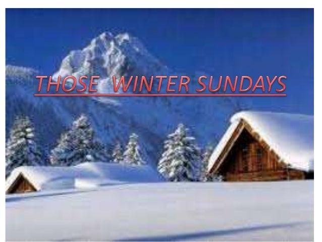 Tpsfastt those winter sundays