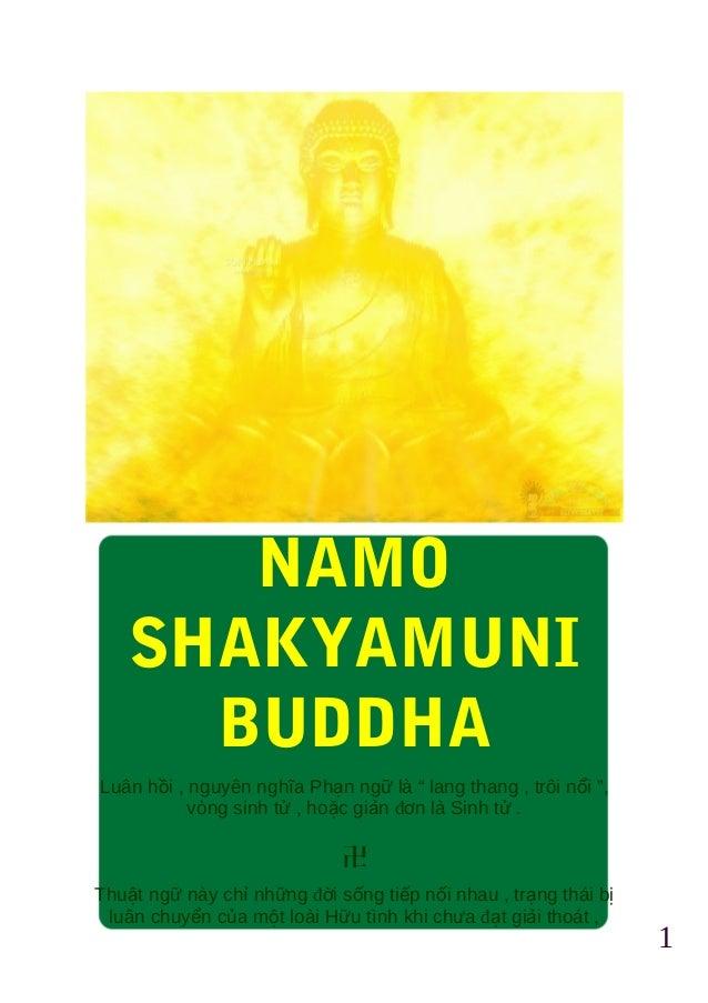 """1 NAMO SHAKYAMUNI BUDDHA Luân hồi , nguyên nghĩa Phạn ngữ là """" lang thang , trôi nổi """", vòng sinh tử , hoặc giản đơn là Si..."""