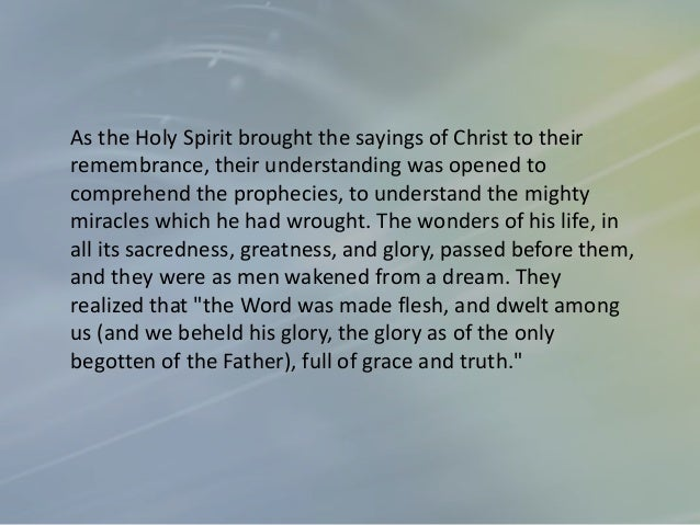 They seemed of much less importance in their own eyes, after their awakening to the fact that Christ had been among them, ...