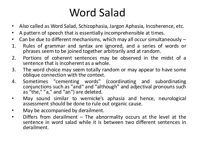 On language play and word salad in schizophrenia youtube.