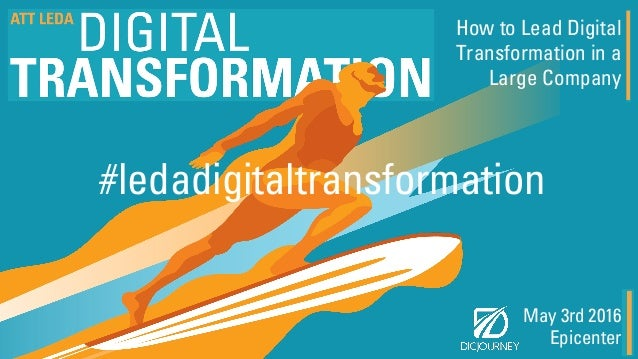May 3rd 2016 Epicenter How to Lead Digital Transformation in a Large Company #ledadigitaltransformation