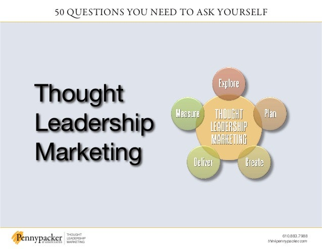 610.883.7988 thinkpennypacker.com 50 QUESTIONS YOU NEED TO ASK YOURSELF Thought Leadership Marketing