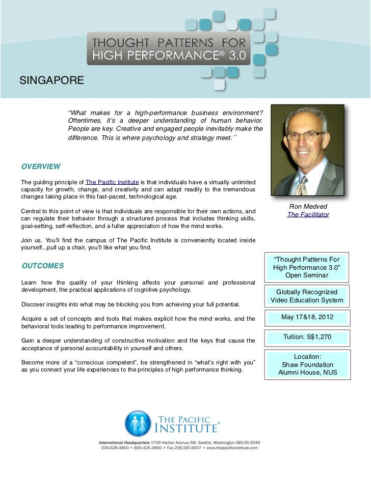 """SINGAPORE                  """"What makes for a high-performance business environment?                  Oftentimes, it's a de..."""
