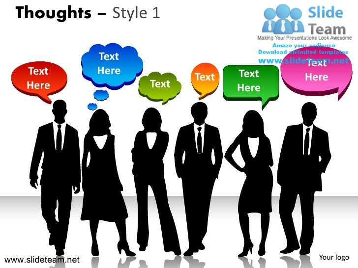 thoughts business people bubbles callouts style design 1 powerpoint …, Powerpoint templates