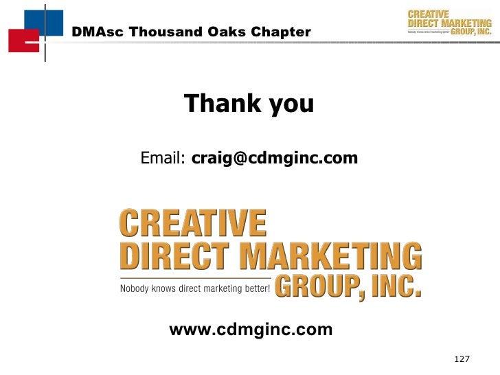 Thank you Email:  [email_address] www.cdmginc.com