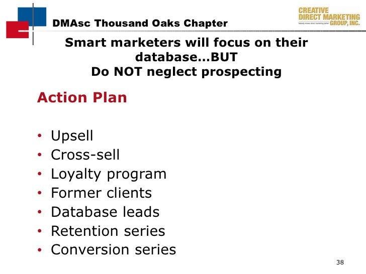 <ul><li>Action Plan </li></ul><ul><li>Upsell  </li></ul><ul><li>Cross-sell  </li></ul><ul><li>Loyalty program </li></ul><u...