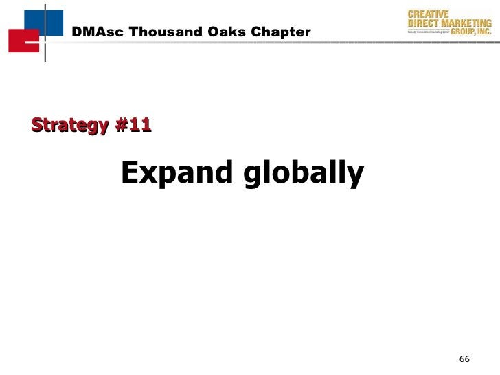 Strategy #11 Expand globally