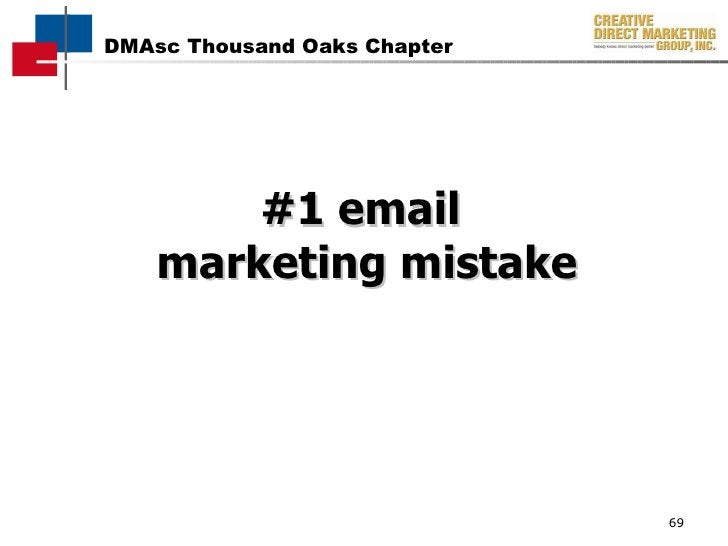 #1 email  marketing mistake