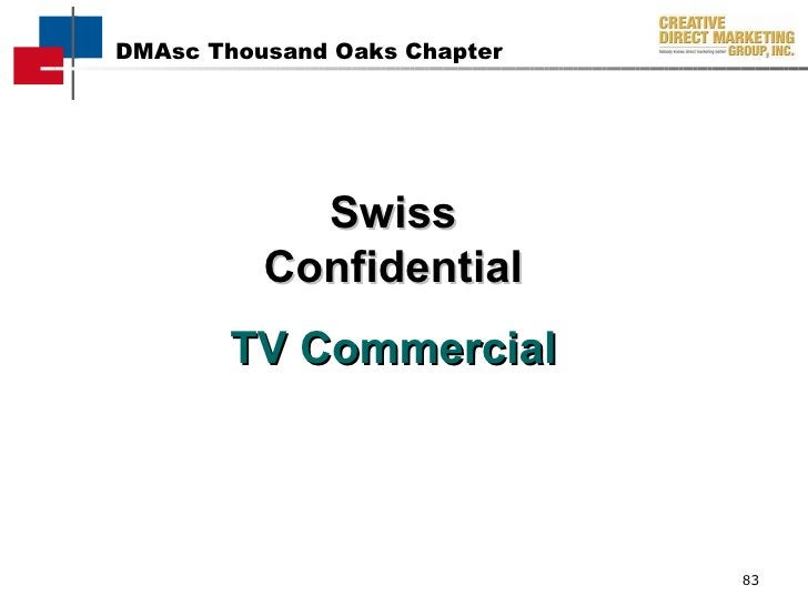 Swiss Confidential TV Commercial