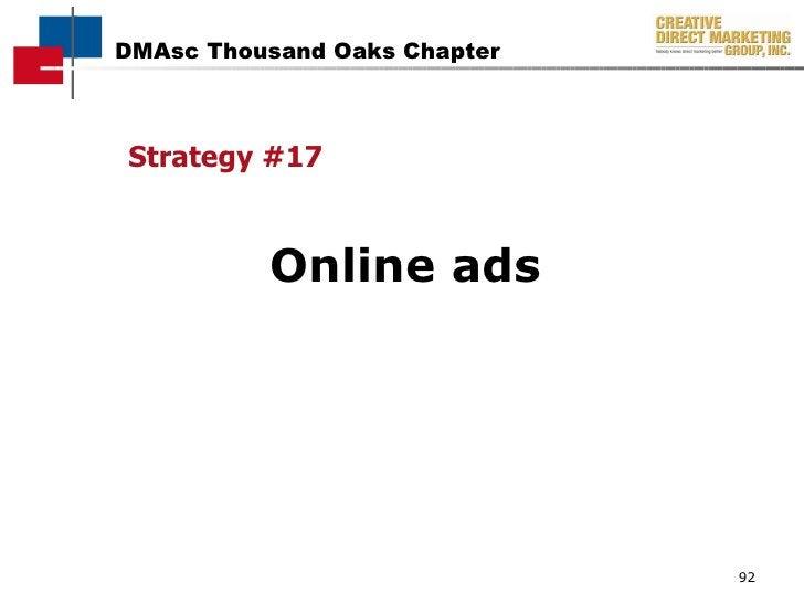 <ul><li>Strategy #17 </li></ul><ul><li>Online ads </li></ul>