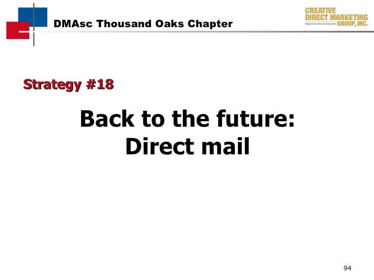 Strategy #18 Back to the future: Direct mail