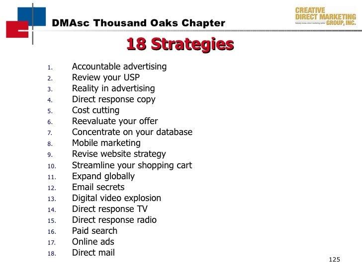 <ul><li>Accountable advertising </li></ul><ul><li>Review your USP </li></ul><ul><li>Reality in advertising </li></ul><ul><...