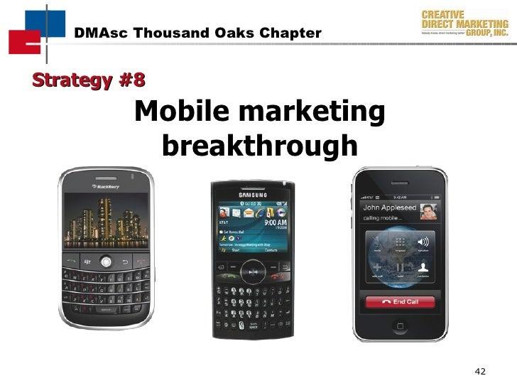 Strategy #8 Mobile marketing breakthrough