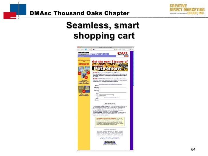 Seamless, smart  shopping cart