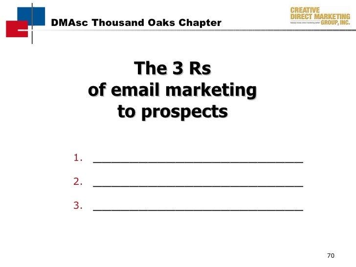 The 3 Rs of email marketing to prospects <ul><li>_______________________ </li></ul><ul><li>_______________________ </li></...