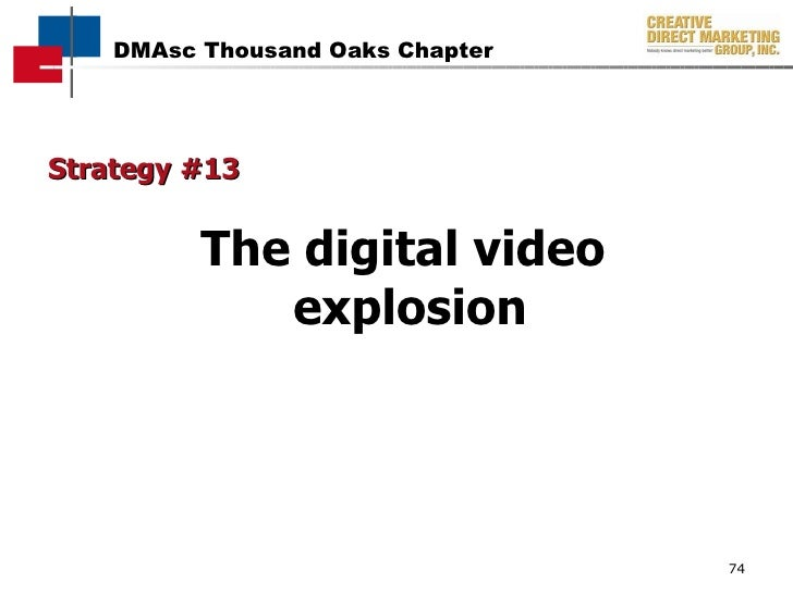 Strategy #13 The digital video  explosion