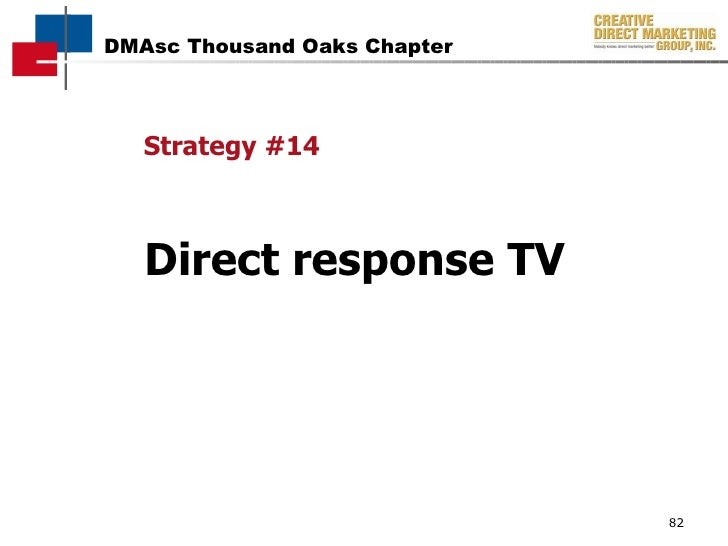 Strategy #14 Direct response TV