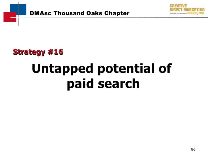 Strategy #16 Untapped potential of  paid search