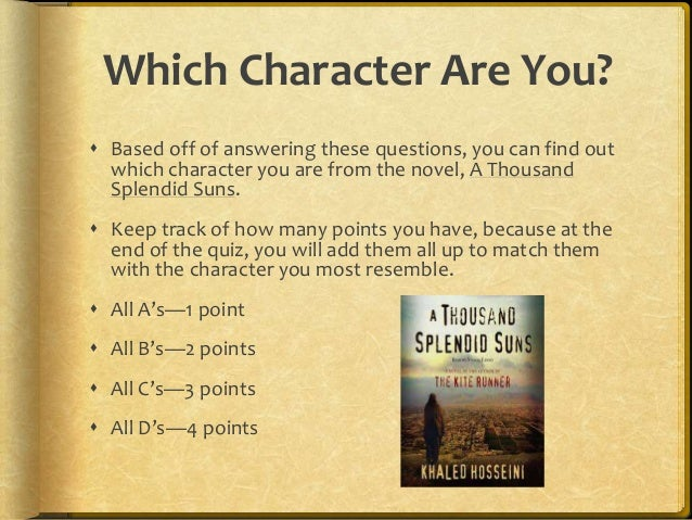 thousand splendid suns analysis essay Multimedia essay- a thousand splendid suns introduction there is no doubt that life is composed of many challenges and obstacles the way one may approach such challenges shows his/her true characteralthough initially devastating, overcoming the hardships of life strengthens the soul, and builds strength.
