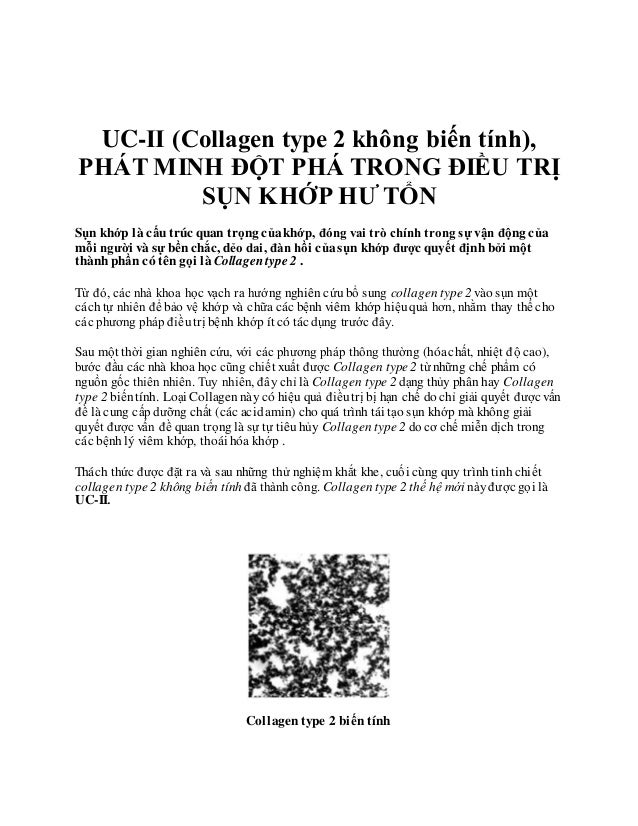 Thuốc chữa trị bệnh đau nhức sụn khớp xương cột sống thắt lưng - jex điều trị nhức sụn khớp UC-II (Collagen type 2...