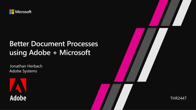 Building document processes using Adobe + Microsoft