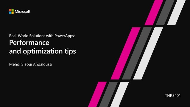 Real-World Solutions with PowerApps: Performance and optimization tip…