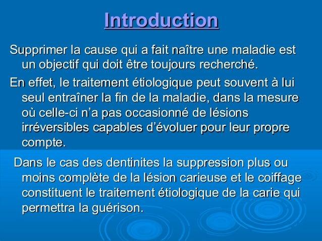 Thérapeutiques dentinaires Slide 2