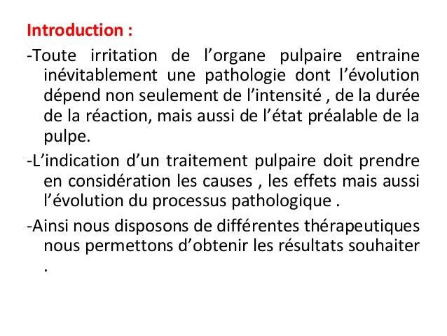 Thérapeutiques des atteintes pulpaires Slide 2