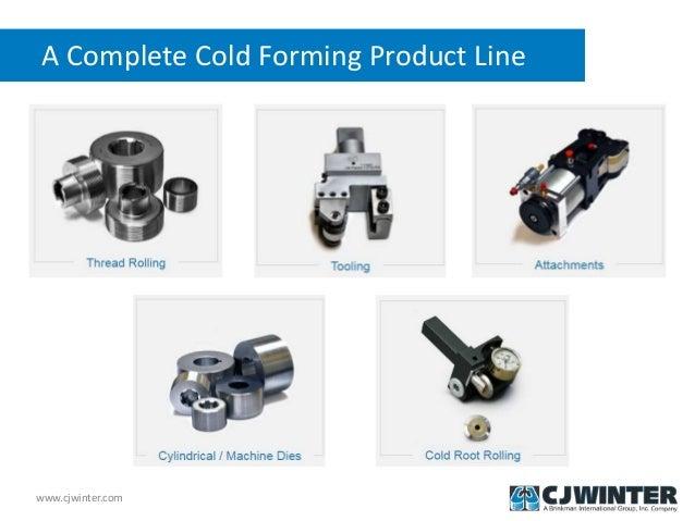Features of CJWinter Thread Rolls