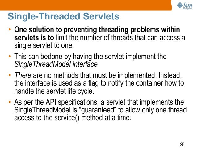 Singlethreadmodel interface in servlet