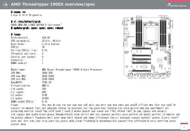 My First AMD Threadripper 1900X memo
