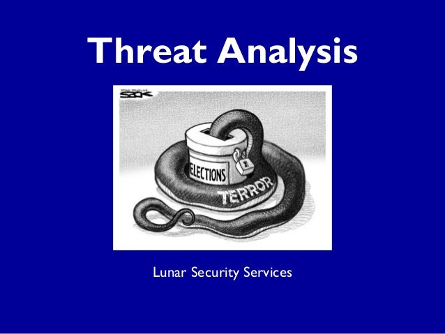 Threat Analysis  Lunar Security Services