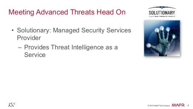 Advanced Threat Detection on Streaming Data Slide 2