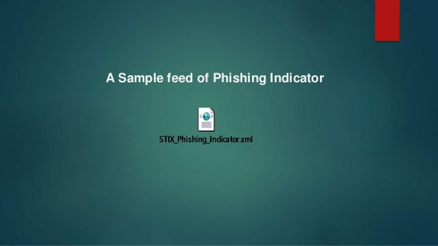 A Sample feed of Phishing Indicator