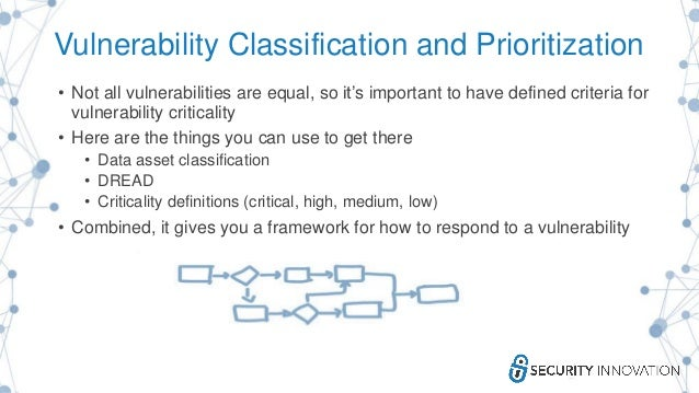 Vulnerability Classification and Prioritization • Not all vulnerabilities are equal, so it's important to have defined cri...