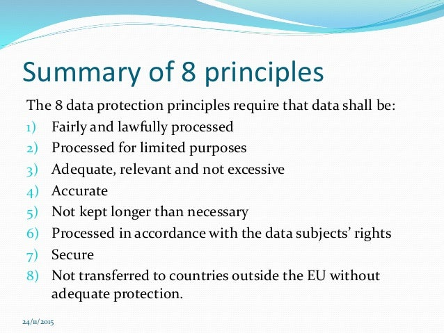 3 1 summarise the main points of legislation and procedures covering confidentiality data protection Summarise the main points of legislation and procedures covering: • confidentiality • data protection • disclosure of information  under the data protection act 1998 all settings and processing personal information must  unit 1 task 3 understand legislation, policies and procedures for confidentiality and.