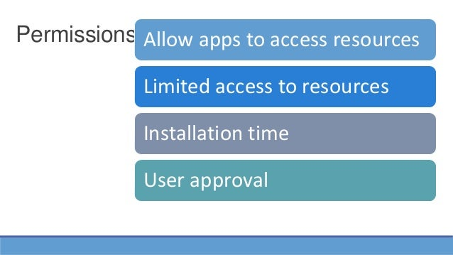 Permission in Android Security: Threats and solution Slide 3