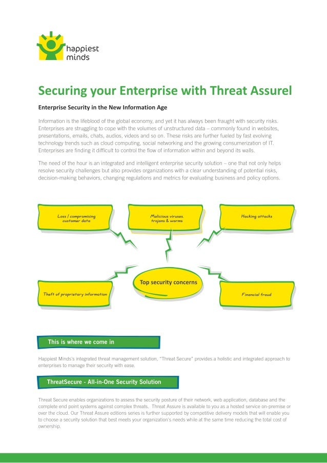 Threat secure brochure artwork for print
