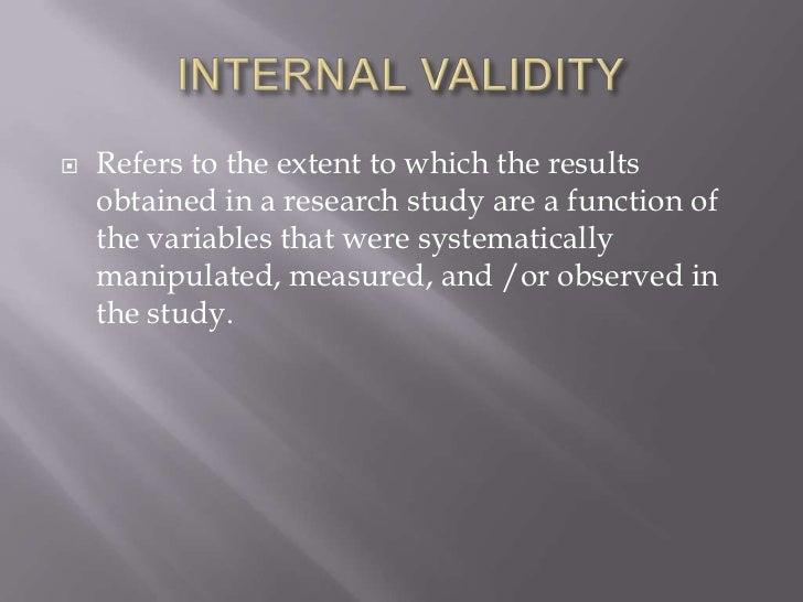 Determining validity while conducting a quantitative ...