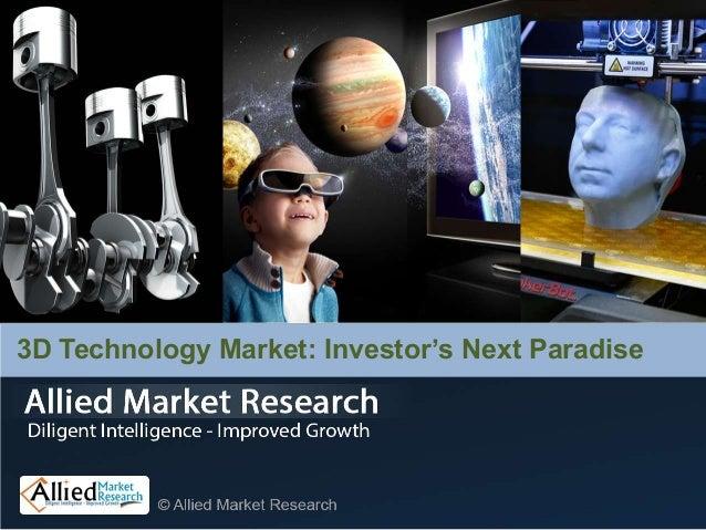 3D Technology Market: Investor's Next Paradise