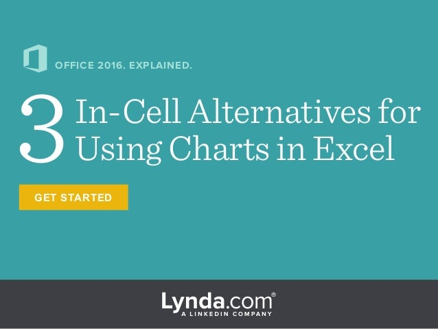 GET STARTED 3In-Cell Alternatives for Using Charts in Excel OFFICE 2016. EXPLAINED.