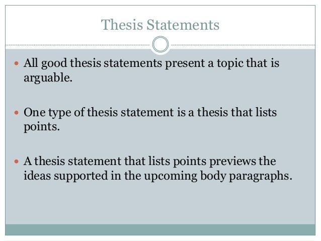 types of thesis statement Both types of thesis statements provide direction for the remainder of the essay  the difference is that as a stated thesis, the statement actually appears in the.