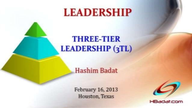 THREE-TIER LEADERSHIP